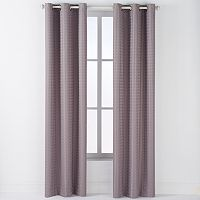 Arlee Lynette Geometric Jacquard Blackout Grommet Window Curtain Set - 84'' x 40''