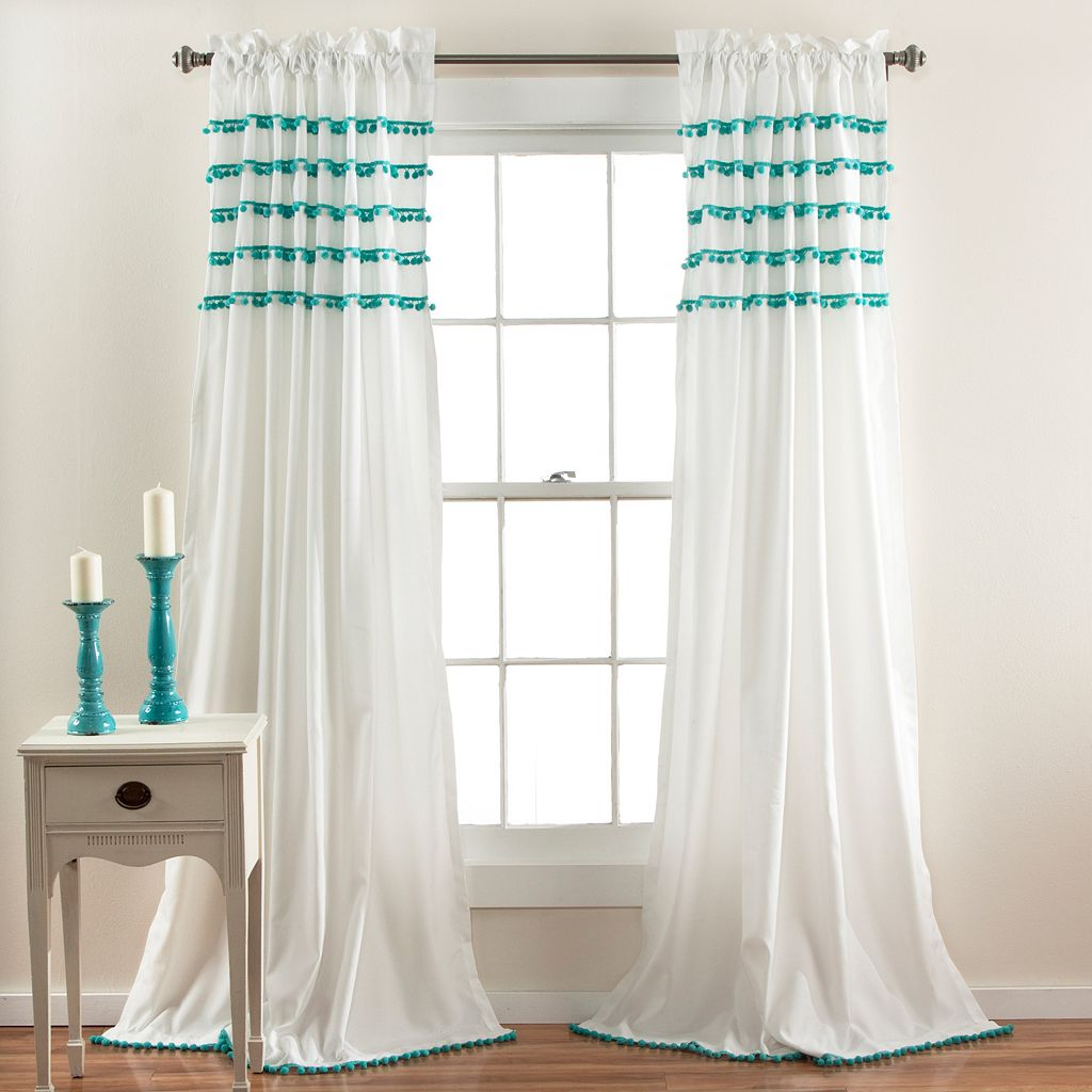 Lush Decor Aria Pom Pom Window Curtain