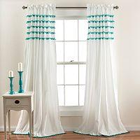 Lush Decor Aria Pom Pom Curtain