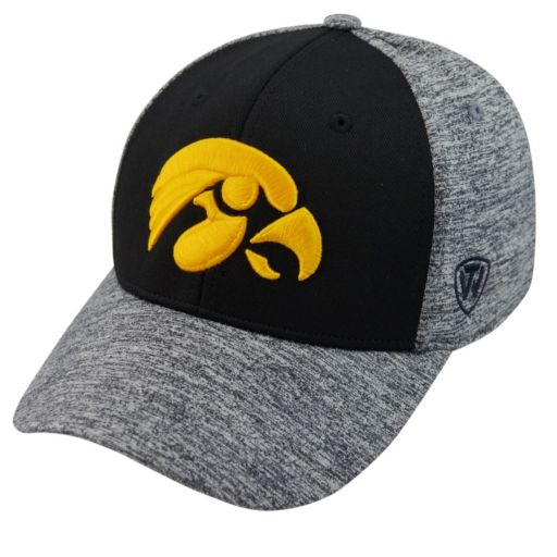 Adult Top of the World Iowa Hawkeyes Pressure One-Fit Cap