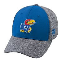 Adult Top of the World Kansas Jayhawks Pressure One-Fit Cap