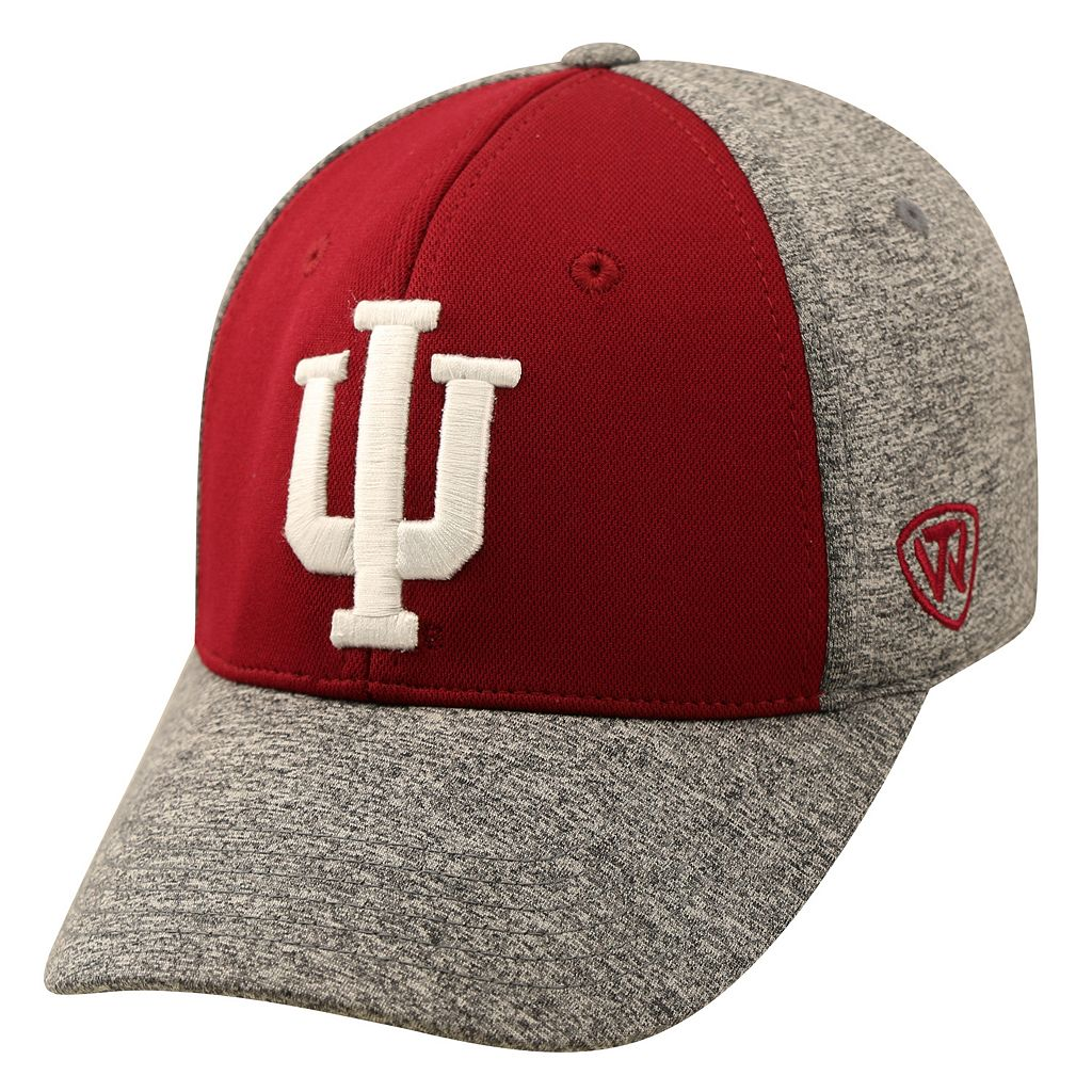 Adult Top of the World Indiana Hoosiers Pressure One-Fit Cap