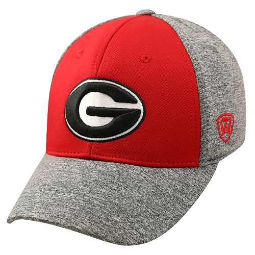 Adult Top of the World Georgia Bulldogs Pressure One-Fit Cap