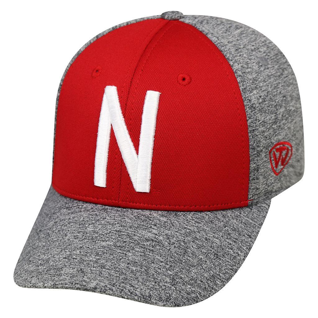 Adult Top of the World Nebraska Cornhuskers Pressure One-Fit Cap