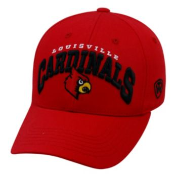 Adult Top of the World Louisville Cardinals Whiz Adjustable Cap