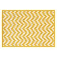 Linon Silhouette Chevron Wool Rug