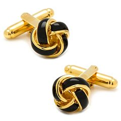 Black & Gold Knot Cuff Links