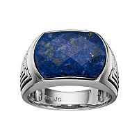 Men's Lapis Lazuli Sterling Silver Ring