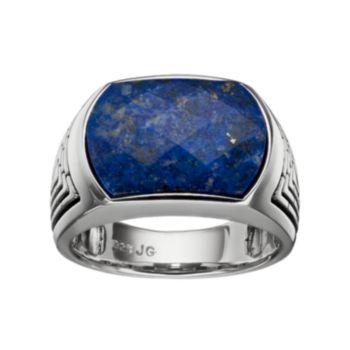 Men's Lapis Lazuli Sterling Silver Ring