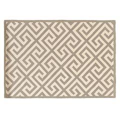 Linon Silhouette Greek Key Wool Rug