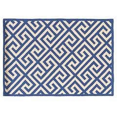 Linon Silhouette Greek Key Wool Rug
