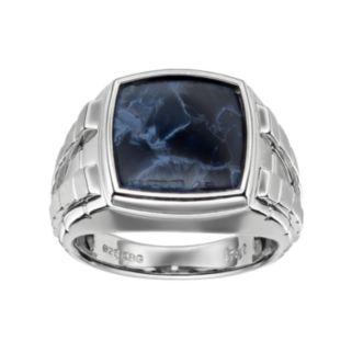 Men's Pietersite Sterling Silver Ring