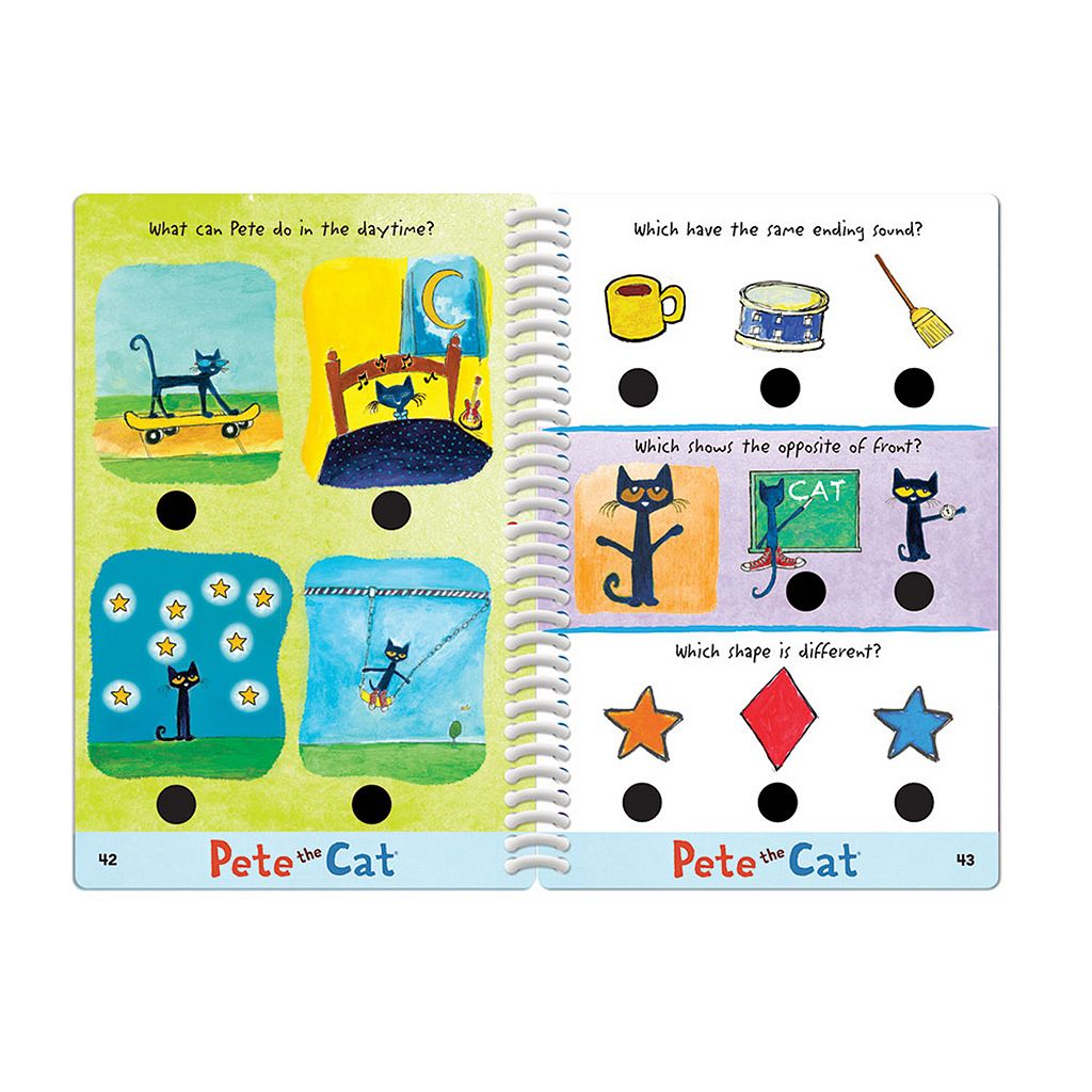 Educational Insights Hot Dots Jr. Pete the Cat Preschool Level 2 Activity Book & Talking Pen Set