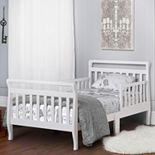 Dream On Me White Sleigh Toddler Bed