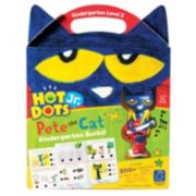 Educational Insights Hot Dots Jr. Pete the Cat Kindergarten Level 2 Activity Book & Talking Pen Set