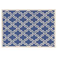Linon Silhouette Quatrefoil Wool Rug