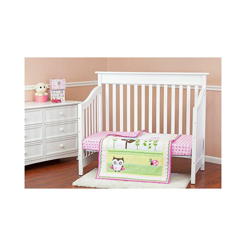 Dream On Me Baby Owl 2-pc. Crib Bedding Set, Pink