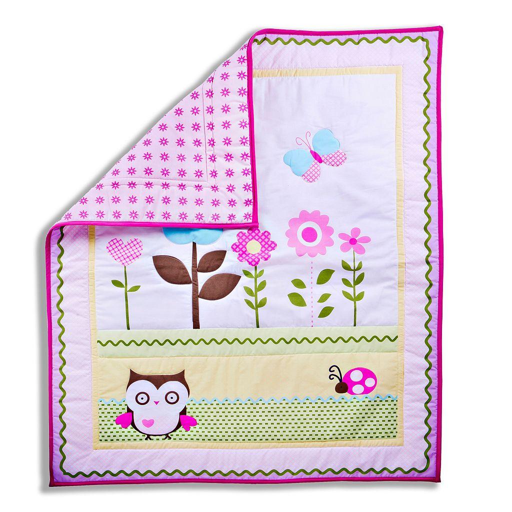 Dream On Me Baby Owl 2-pc. Crib Bedding Set