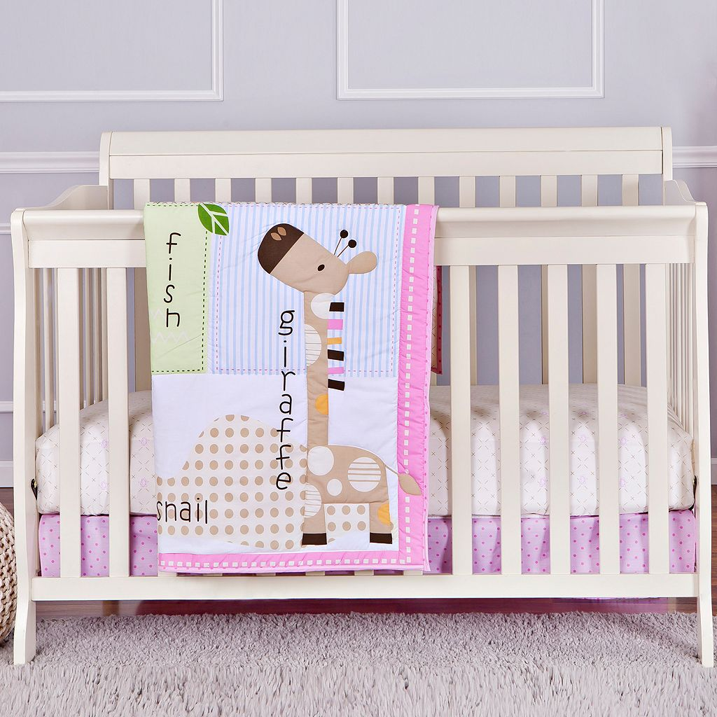 Dream On Me Jungle Friends 2-pc. Crib Bedding Set