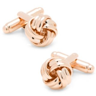 Rose Gold Knot Cuff Links