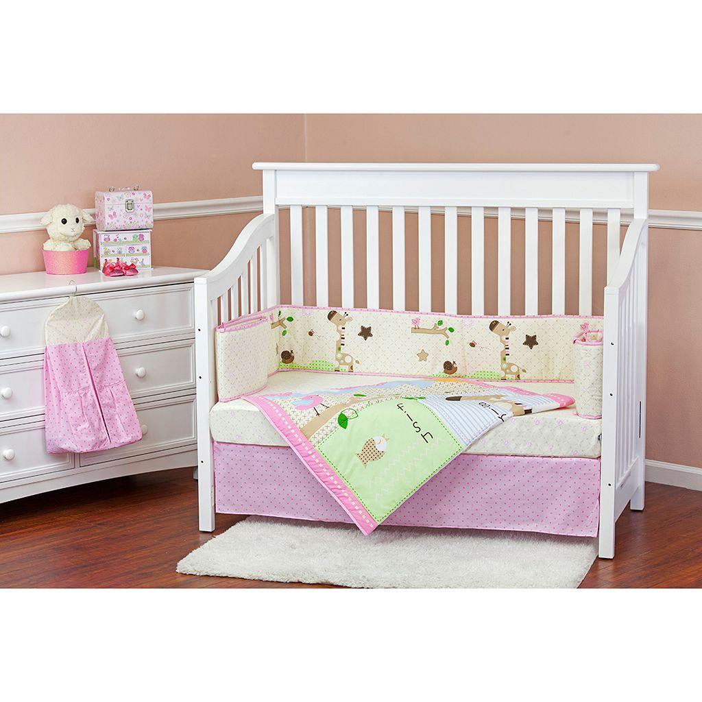 Dream On Me Jungle Friends 5-pc. Crib Bedding Set