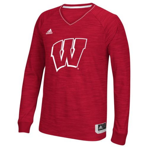 Men's adidas Wisconsin Badgers On Court Shooter Tee