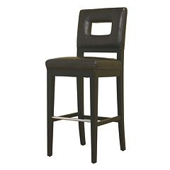 Baxton Studio Faustino Leather Bar Stool