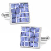 Purple Checker Square Cuff Links