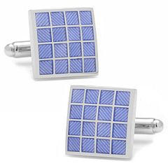 Purple Checker Square Cuff Links