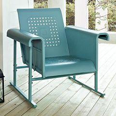 Crosley Outdoor Veranda Single Glider Chair by