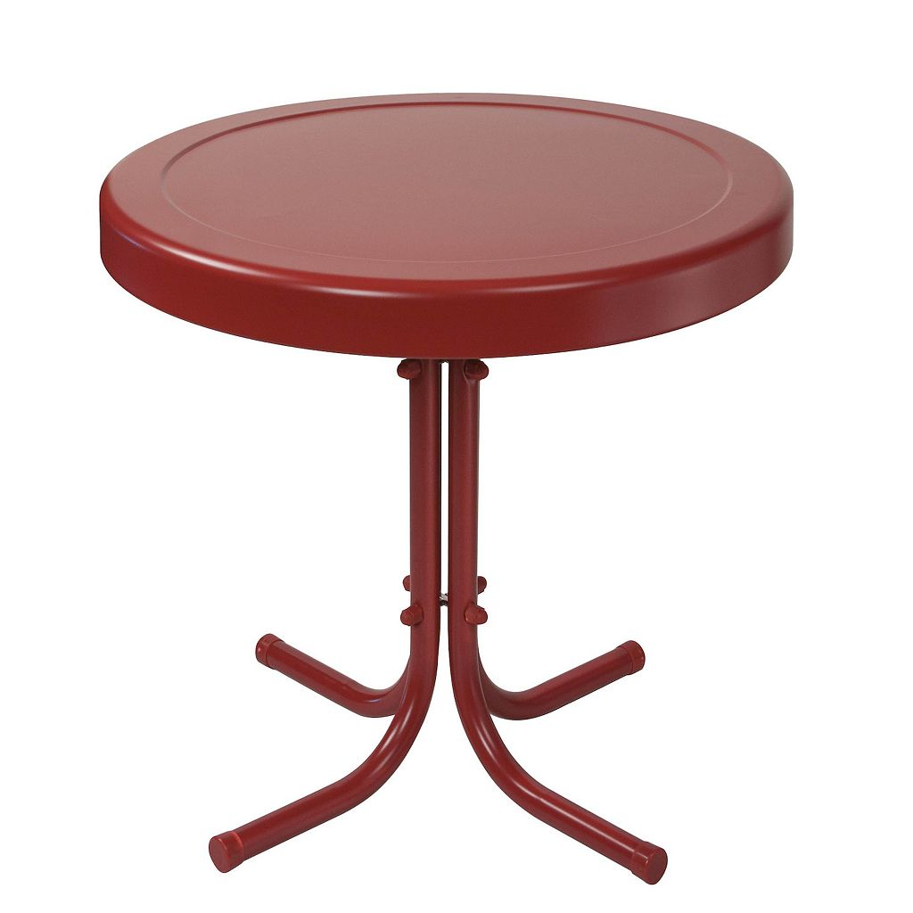 Crosley Outdoor Retro Metal Side Table