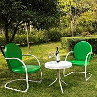 Griffith Metal Chairs & End Table 3 pc Set
