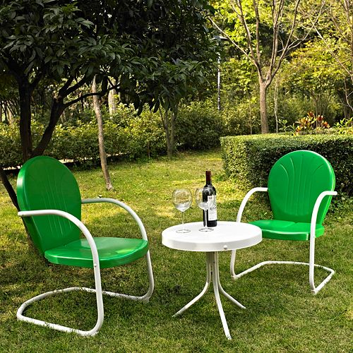 Griffith Metal Chairs & End Table 3-piece Set