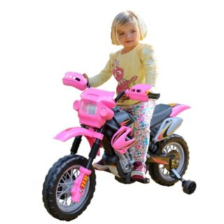 Fun Wheels Pink Motorbike Ride-On