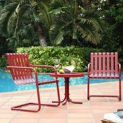 Gracie 3 pc Metal Outdoor Seating Set