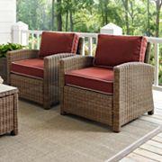 Crosley Outdoor Biltmore 2 pc Outdoor Wicker Seating Set