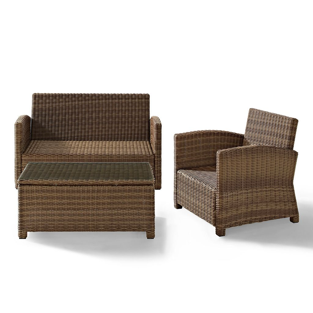 Crosley Outdoor Biltmore 3-pc. Outdoor Wicker Seating Set