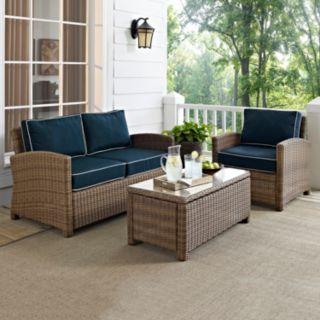 Crosley Outdoor Biltmore 3-pc. Outdoor Wicker Seating Set