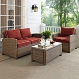 Crosley Outdoor Bradenton 3-pc. Outdoor Wicker Seating Set