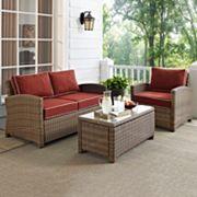 Crosley Outdoor Biltmore 3 pc Outdoor Wicker Seating Set