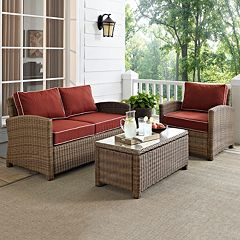 Crosley Outdoor Biltmore 3 pc Outdoor Wicker Seating Set