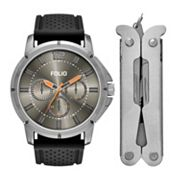 Folio Men's Chronograph Watch & Multi Tool Set