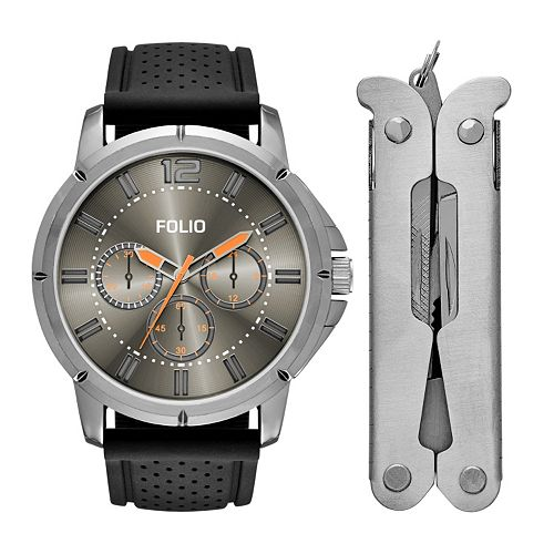 Folio Men's Chronograph Watch & Multi Tool Set