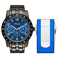 Folio Men's Chronograph Watch & Multi Tool Money Clip Set