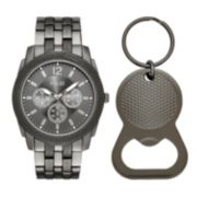 Folio Men's Chronograph Watch & Bottle Opener Key Chain Set