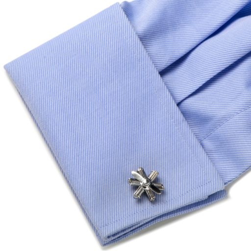 Moving Airplane Engine Cuff Links - Men