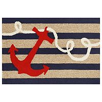 Trans Ocean Imports Liora Manne Frontporch Anchor Indoor Outdoor Rug