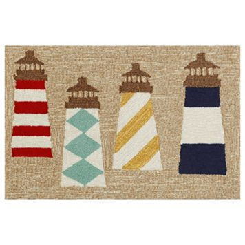 Trans Ocean Imports Liora Manne Frontporch Lighthouses Indoor Outdoor Rug