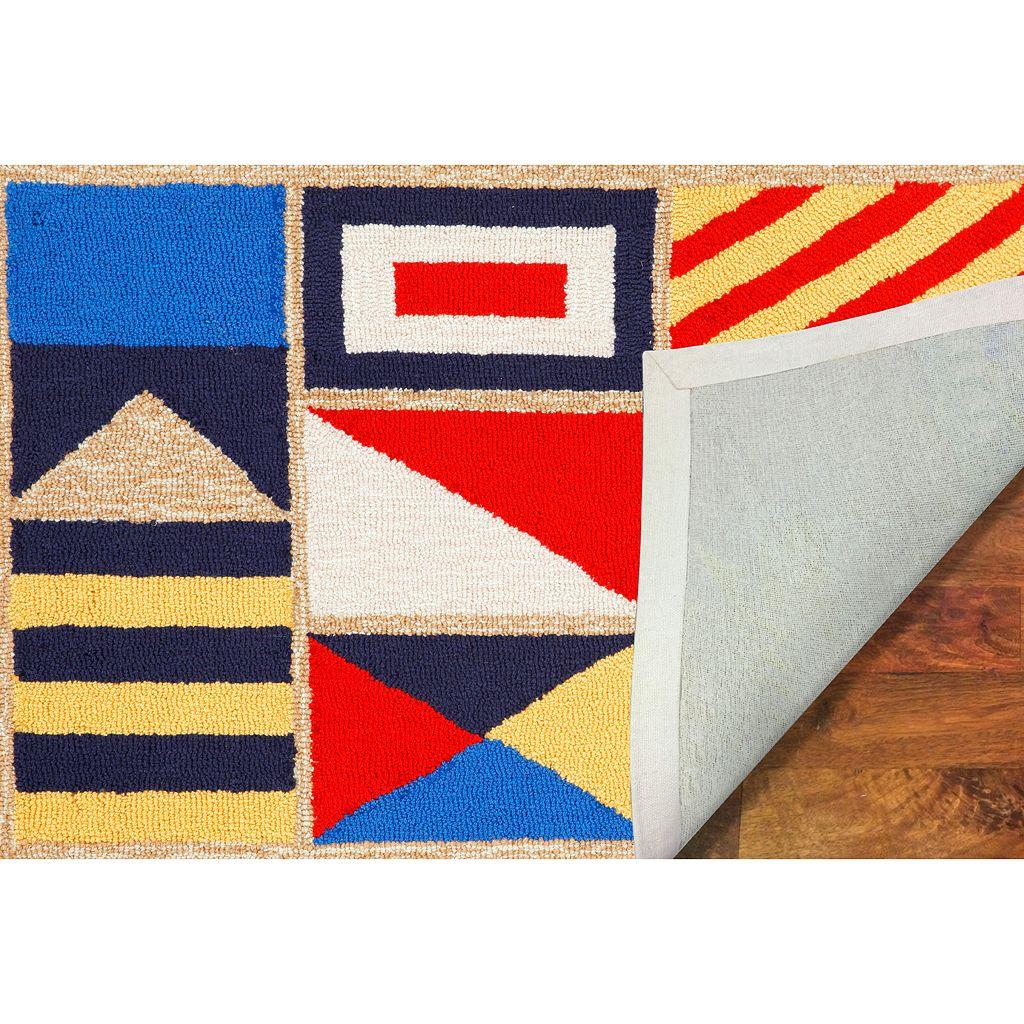 Liora Manne Frontporch Signal Flags Indoor Outdoor Rug