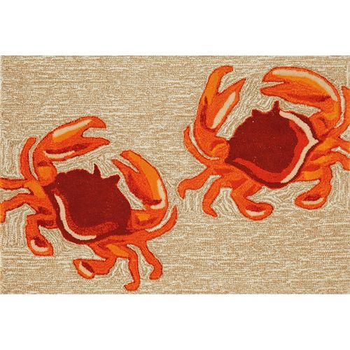 Liora Manne Frontporch Crabs Indoor Outdoor Rug